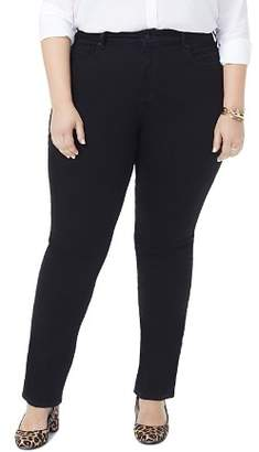Decode 1.8 NYDJ Plus Marilyn Straight-Leg Jeans in Black