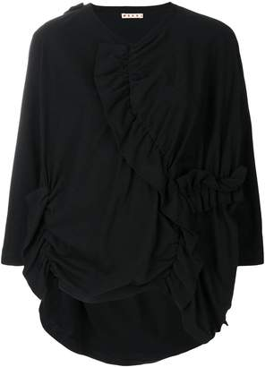 Marni ruched oversized top