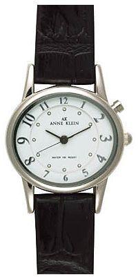 AK Anne Klein Watch, Women's Black Strap 10-7161WTBI