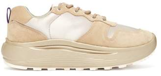 Eytys Jet Combo Exaggerated Sole Suede Trainers - Womens - Beige