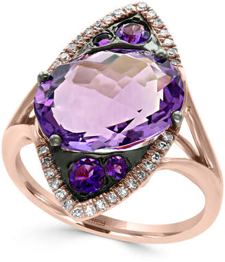 Effy Amethyst (5-3/4 ct. t.w.) and Diamond (1/8 ct. t.w.) Ring in 14k Rose Gold