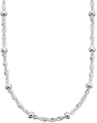 "Giani Bernini Sterling Silver Necklace, 16"" Small Bead Singapore Chain"