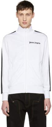 Palm Angels White and Black Logo Track Jacket