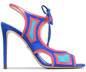 Nicholas Kirkwood Cutout Leather And Suede Sandals