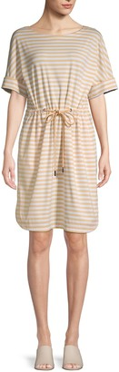 Lafayette 148 New York Striped T-Shirt Dress
