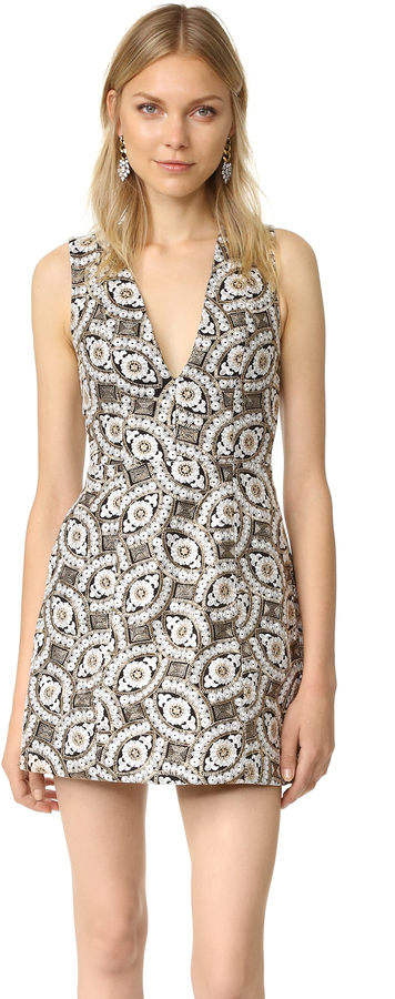 Alice + Olivia alice + olivia Pacey Embroidered Dress
