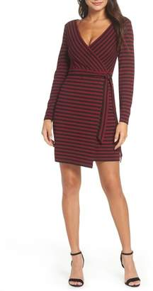 BB Dakota All Day Everyday Ponte Faux Wrap Dress