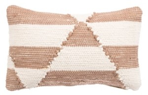 "Jaipur Nikki Chu By Living Otway Cream/Pink Geometric Down Throw Pillow 16"" x 24"""