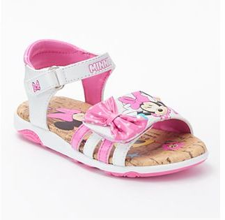 Disney Minnie Mouse Toddler Girls' Light-Up Sandals $34.99 thestylecure.com