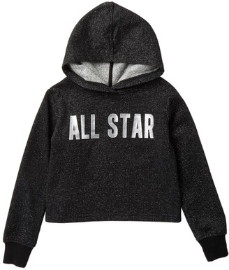 Converse Cropped Hoodie (Little Girls)