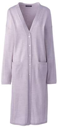 Lands' End - Purple Merino Long Cardigan