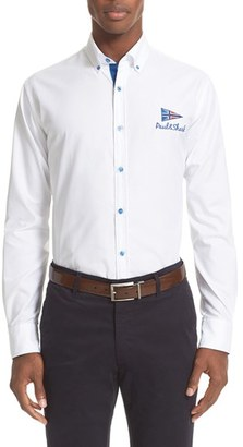 Men's Paul & Shark Logo Sport Shirt $250 thestylecure.com