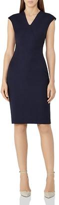 REISS Indi Cap-Sleeve Sheath Dress $340 thestylecure.com