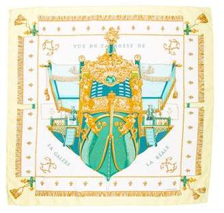 Hermes Vue du Carosse de la Galère la Réale Silk Scarf