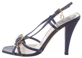 Christian Dior Embellished Embossed Sandals