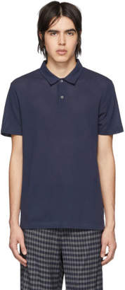 Sunspel Navy Cellular Polo