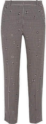 Carven Checked Crepe Slim-leg Pants - Black