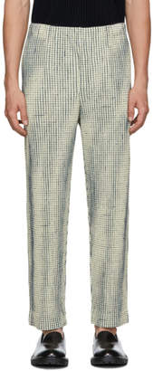 Issey Miyake Homme Plisse Off-White MC June Network Check Trousers