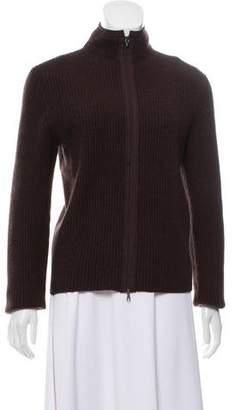 Brunello Cucinelli Wool Zip-Up Cardigan