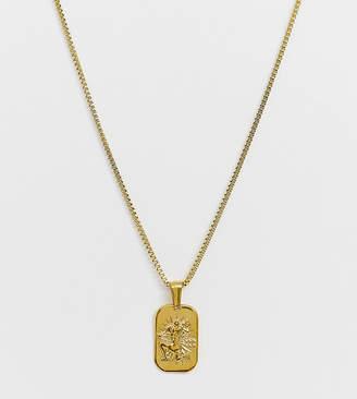 Image Gang gold filled aquarius star sign pendant necklace
