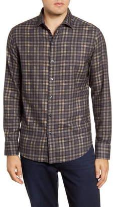 Robert Barakett Coquitlam Regular Fit Plaid Button-Up Flannel Shirt