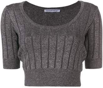 Alexander Wang cropped ribbed knit top