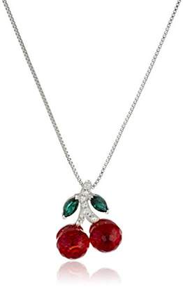 Swarovski Sterling Silver with Elements Cherries Pendant Necklace