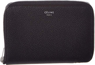 Celine Leather Zip Around Wallet