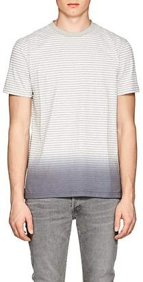 Barneys New York MEN'S STRIPED OMBRÉ COTTON-BLEND T-SHIRT