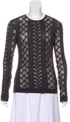 Alexander Wang Crochet Long Sleeve Top