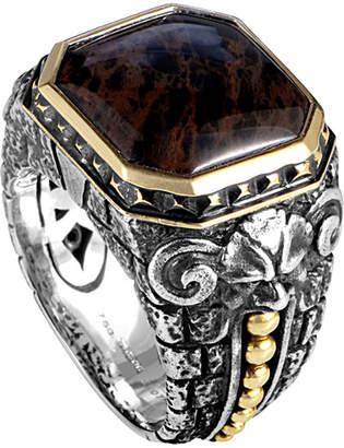 Stephen Webster 18K & Silver Jasper Ring