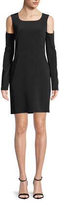 Helmut Lang Long-Sleeve Cutout-Shoulder Dress