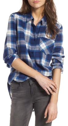 Women's Bp. Plaid Cotton Blend Shirt $49 thestylecure.com