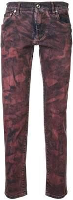 Dolce & Gabbana tie-dye slim fit jeans