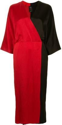 Zero Maria Cornejo two-tone dress