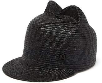 Maison Michel Jamie Straw Hat - Womens - Black