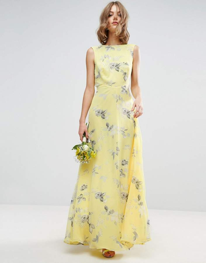 Asos ASOS WEDDING Maxi Dress in Sunshine Floral Print