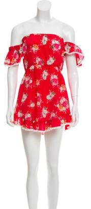 Athena Procopiou Floral Silk Mini Dress