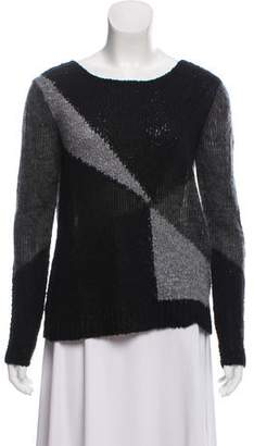 Alice + Olivia Colorblock Scoop Neck Sweater