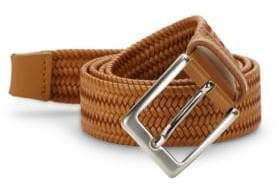 Saks Fifth Avenue Basket Weave Leather Belt