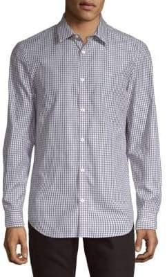 Calvin Klein Checkered Classic-Fit Button-Down Shirt