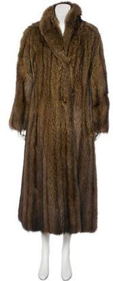 Christian Dior Natural Russian Fisher Fur Coat