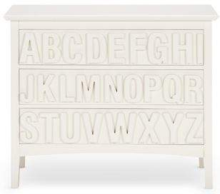 Marks and Spencer Hastings Ivory ABC 3 Drawer Chest