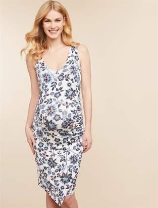 Jessica Simpson Motherhood Maternity Ruched Maternity Dress