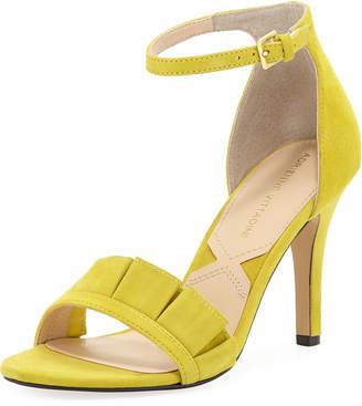 Adrienne Vittadini Gabi Suede Mid-Heel Dress Sandal