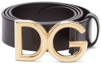 Dolce & Gabbana Buckle Leather Belt - Mens - Black Gold