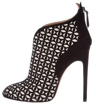 Alaia Two-Tone Laser Cut Booties