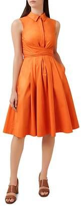 Hobbs London Alesha Tie-Waist Shirt Dress