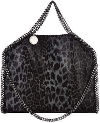 Stella McCartney Small Falabella Leopard Print Foldover Tote Bag