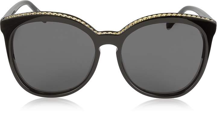 Stella McCartney SC0074S Acetate Cat-Eye Women's Sunglasses w/Goldtone Chain